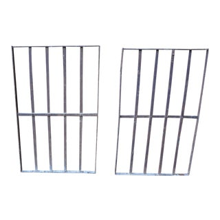 Victorian Iron Fence Pieces - A Pair For Sale