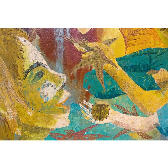 """""""Meditation"""" Oil Painting by Charlotte Ross Circa 1960 For Sale - Image 5 of 6"""