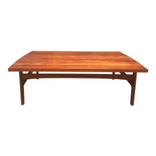 1960s Mid-Century Modern Dux Teak Coffee Table