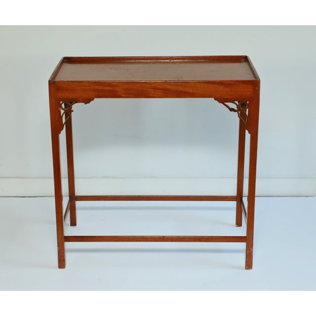 Mahogany Chippendale style table from the 20th floor Tower Suites of the famed Waldorf Astoria hotel in New York City....