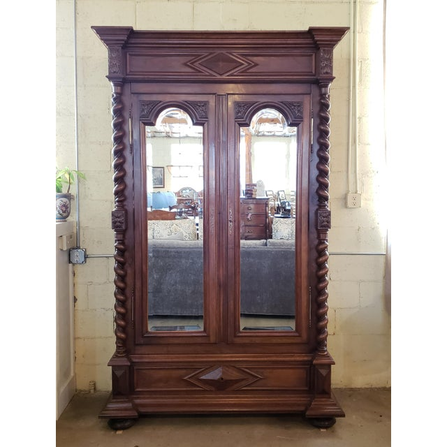 Louis XIII Period Walnut Armoire For Sale - Image 13 of 13