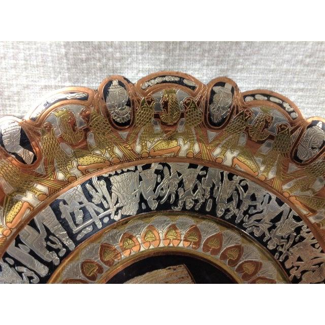 Egyptian Revival Copper Egyptian Nefertiti Plate For Sale - Image 3 of 5