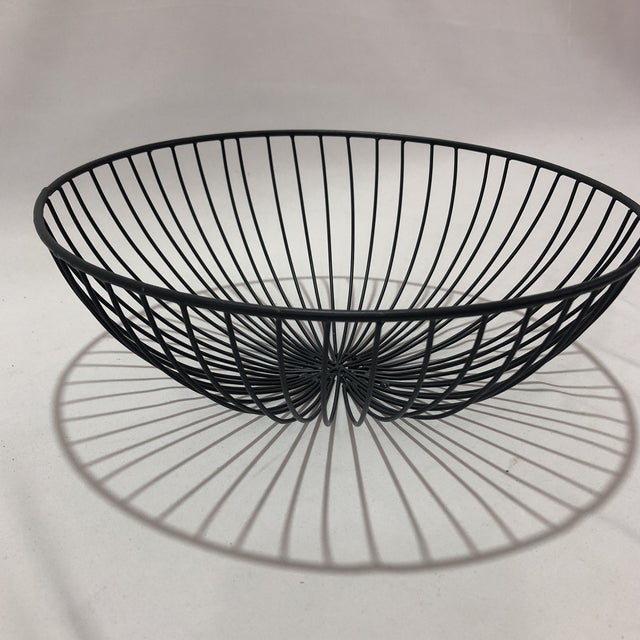 Boho Chic Hand Crafted Industrial Style Wire Bowl For Sale - Image 3 of 5