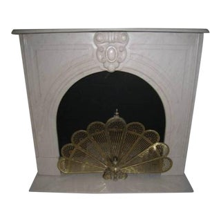 White Marble Fireplace Mantel For Sale