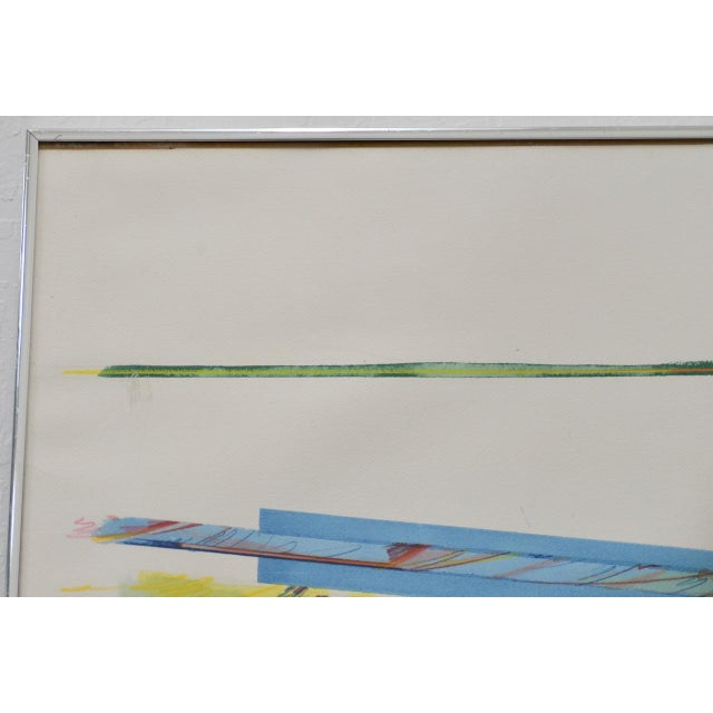 """Peter Kitchell """"Zorro"""" Monumental Abstract Watercolor c.1979 For Sale - Image 5 of 7"""