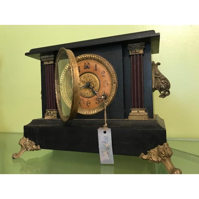 Gilbert 1911 Mantle Clock by Wm. L. Gilbert Clock Co. For Sale - Image 4 of 8