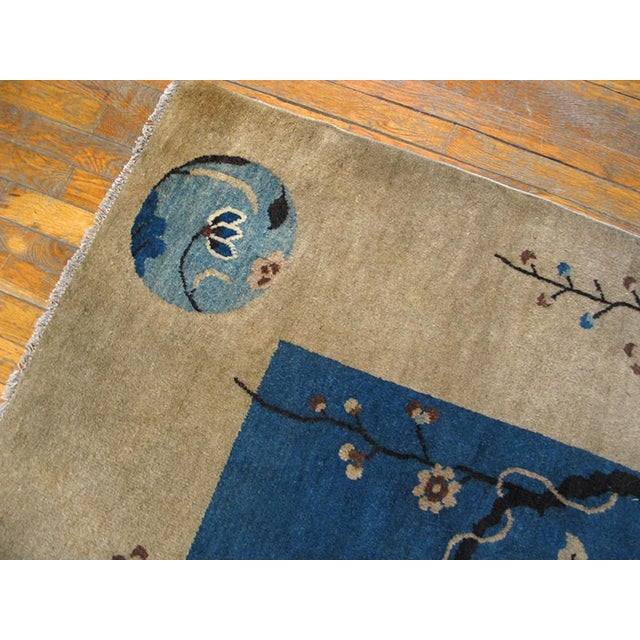"Asian 1920s Chinese Art Deco Rug - 9'x11'10"" For Sale - Image 3 of 9"