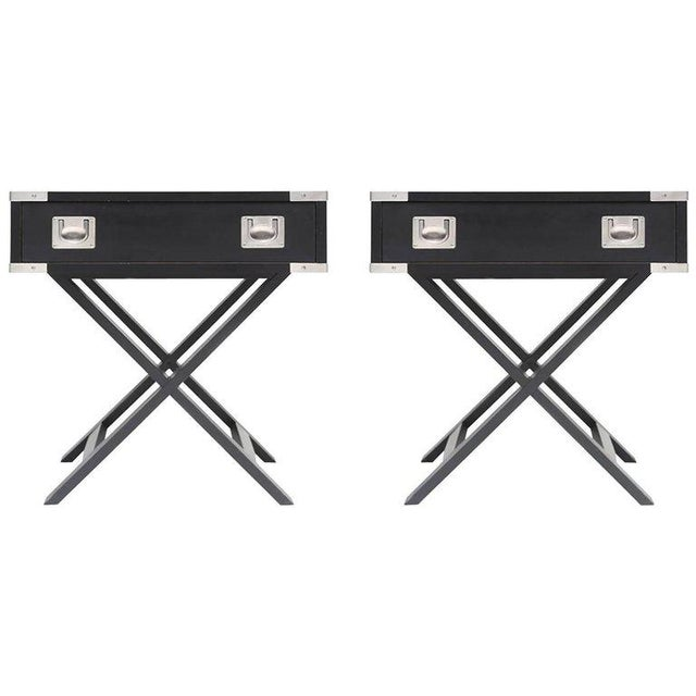 Chrome Director Style Side Tables For Sale - Image 7 of 7