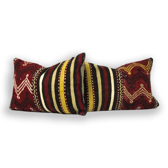 Ethnic Chic Lumbar Pillows - A Pair - Image 2 of 3