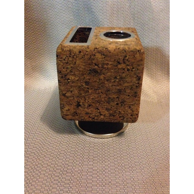 Mid-Century Modern Vintage Cork Pencil and Stationary Holder For Sale - Image 3 of 7