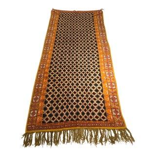 Black and Orange Moroccan Rug For Sale