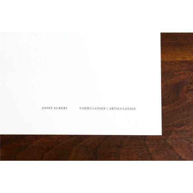 Josef Albers Diptych Silkscreen No. 3 Portfolio II For Sale - Image 5 of 6