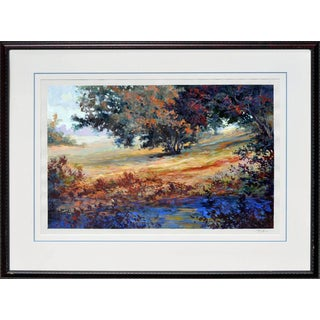 Oaks Trees and Lupines by Johnson For Sale