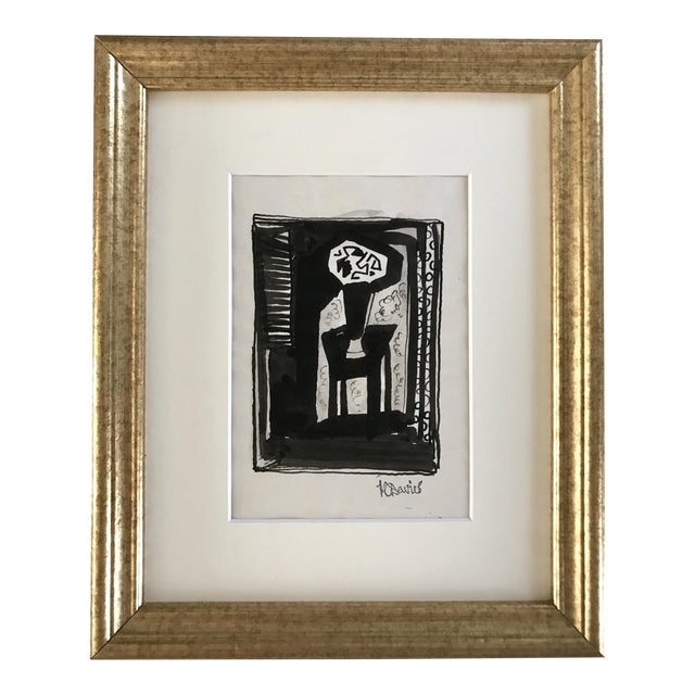 Harold C. Davies Modernist Painting - Image 1 of 5
