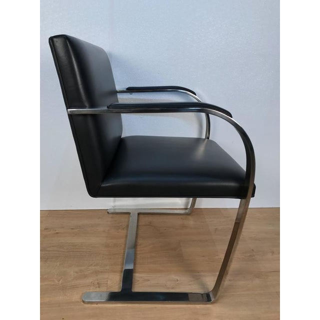Pair of Knoll Chrome Plated Steel Brno Armchairs, With Leather Seats - Image 3 of 6