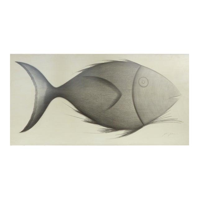 """Fish"" Original Drawing by Yuri Zatarain For Sale"