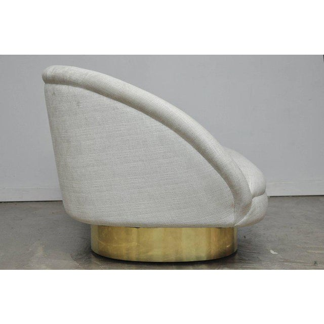 Vladimir Kagan Crescent Sofa on Brass Base For Sale In Chicago - Image 6 of 8