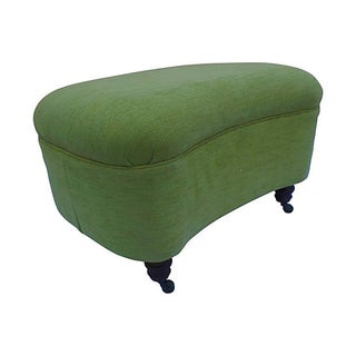 George England Green Velvet Ottoman