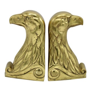 Vintage American Federal Bald Eagle Bookends - a Pair For Sale