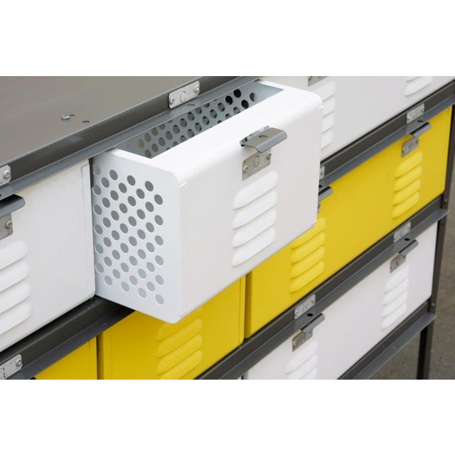 Industrial 5 X 3 Locker Basket Unit With Specialty Double Wide Baskets, Custom Made to Order For Sale - Image 3 of 7