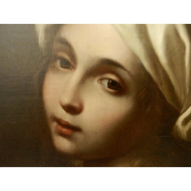 Canvas 19th Portrait of Beatrice Cenci For Sale - Image 7 of 10