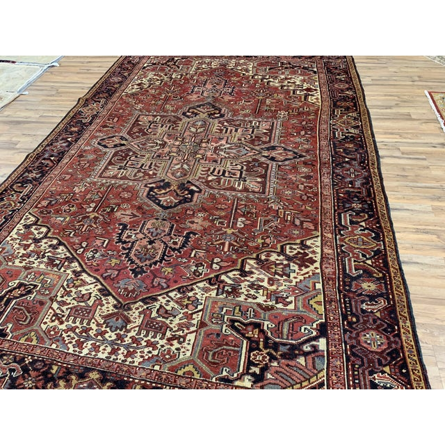 Early 20th Century Early 20th Century Antique Persian Heriz Rug - 8′3″ × 12′5″ For Sale - Image 5 of 6