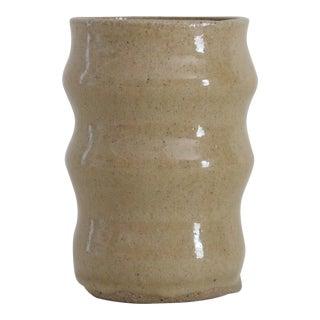 Ceramic Rippled Artisanal Vase