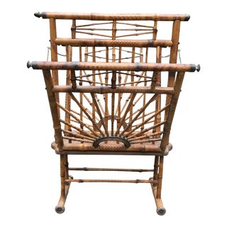 Late 19th Century Antique Bamboo Magazine Stand For Sale