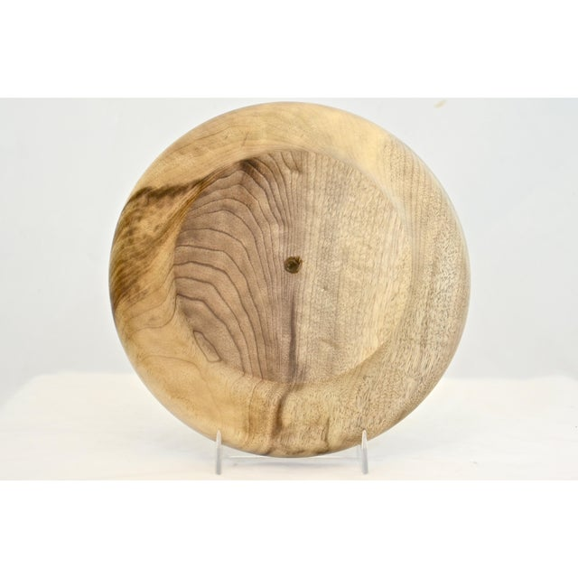 """Late 20th Century Hand Turned 8"""" Wood Tray For Sale - Image 5 of 6"""