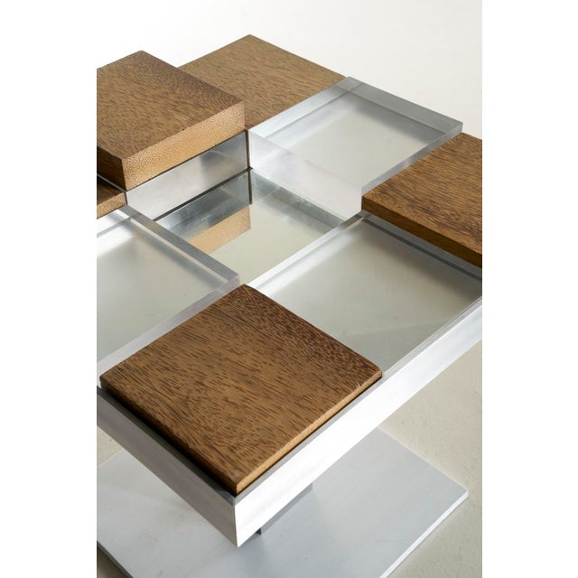 Custom Graphic Aluminum Side Table - Image 3 of 6