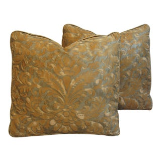 Designer Mariano Fortuny Caravaggio Feather/Down Pillows - a Pair For Sale