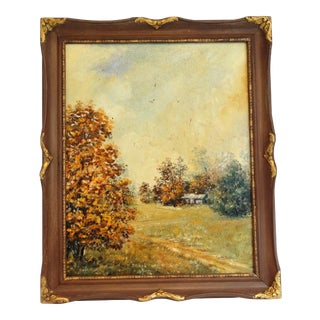 Plein Air Autumnal Oil Painting For Sale