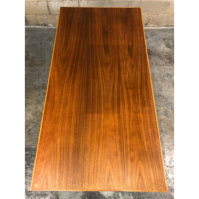 """Indiana Mid-Century Modern Executive Desk 30"""" X 60"""" Top For Sale In Saint Louis - Image 6 of 13"""
