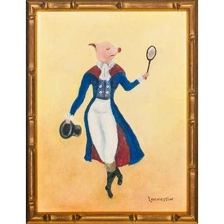 """Piglet Vanity?"" Oil Painting For Sale"