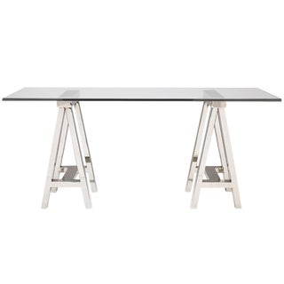 Mason Glass Top Desk For Sale