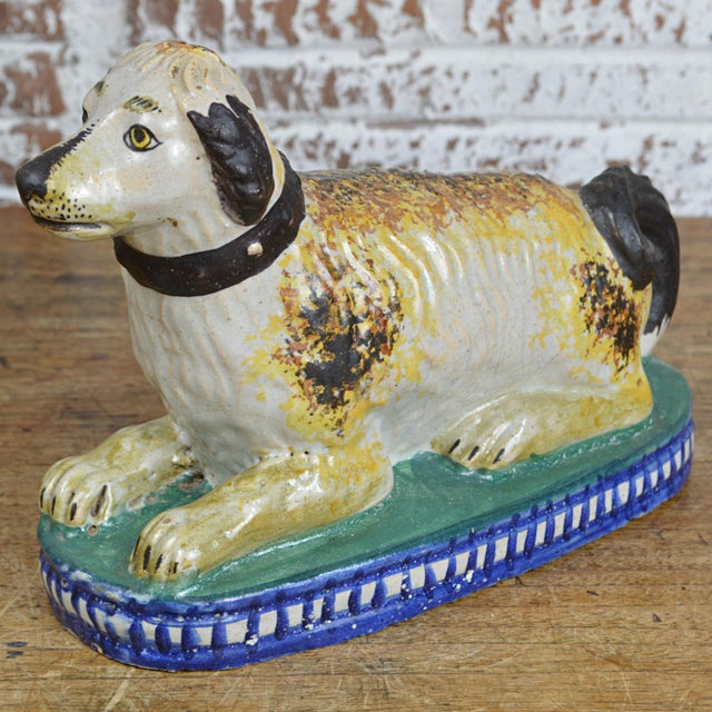 19th Century Staffordshire Seated Dog For Sale - Image 10 of 10