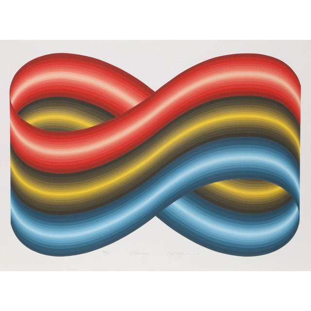 """A serigraph by Roy Ahlgren titled """"Mobius"""" from 1978. Artist: Roy Ahlgren, American (1927 - 2011). Title: Mobius. Year:..."""
