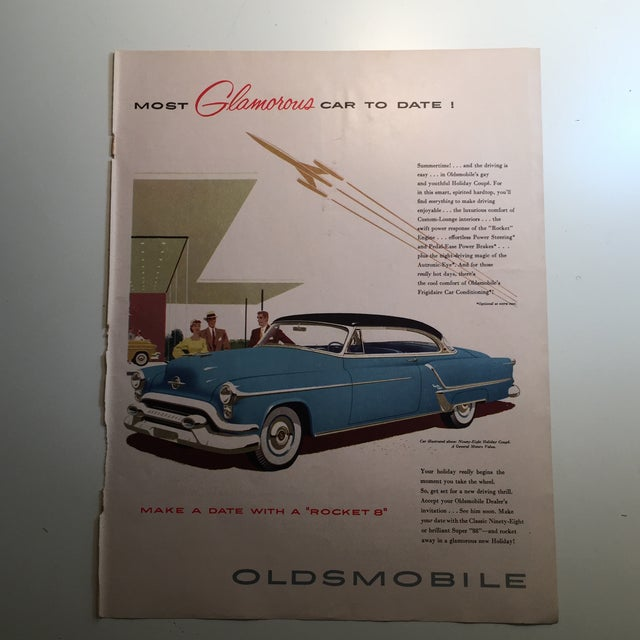 1953 Lucky Strike & Oldsmobile Ads - A Pair For Sale - Image 4 of 5