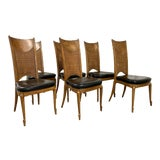 Image of Vintage Mastercraft Burl Dining Chairs - Set of 6 For Sale