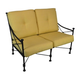 Giacometti Style Patio Love Seat by Winston For Sale