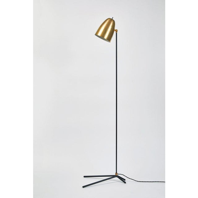 """Metal """"Oro"""" Brass and Metal Floor Lamp For Sale - Image 7 of 12"""