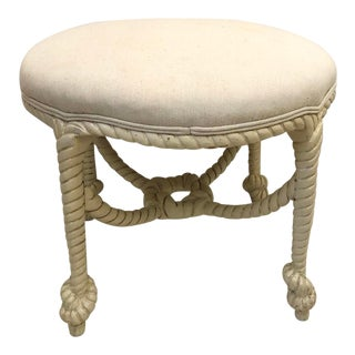 1940s Maison Jansen Style French Rope Stool For Sale