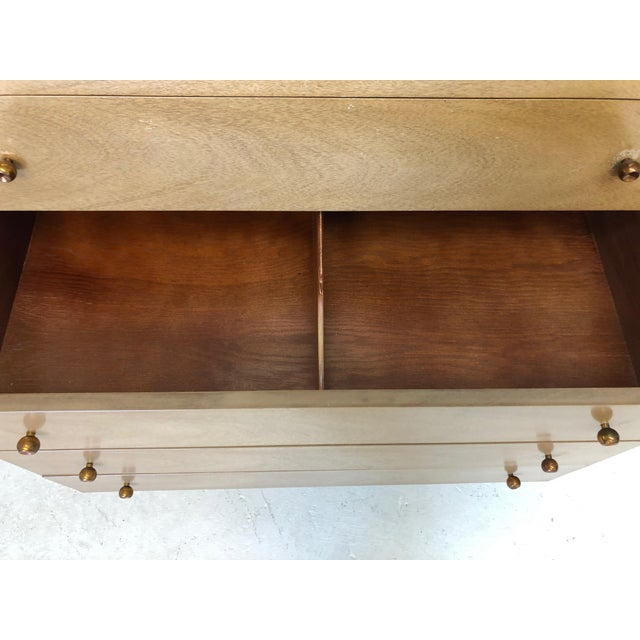 """Tan Mid Century Modern Kent Coffey """"The Continental"""" Highboy Dresser For Sale - Image 8 of 9"""