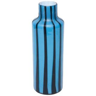 Italian Murano Barbini Glass Pinwheel Vase For Sale