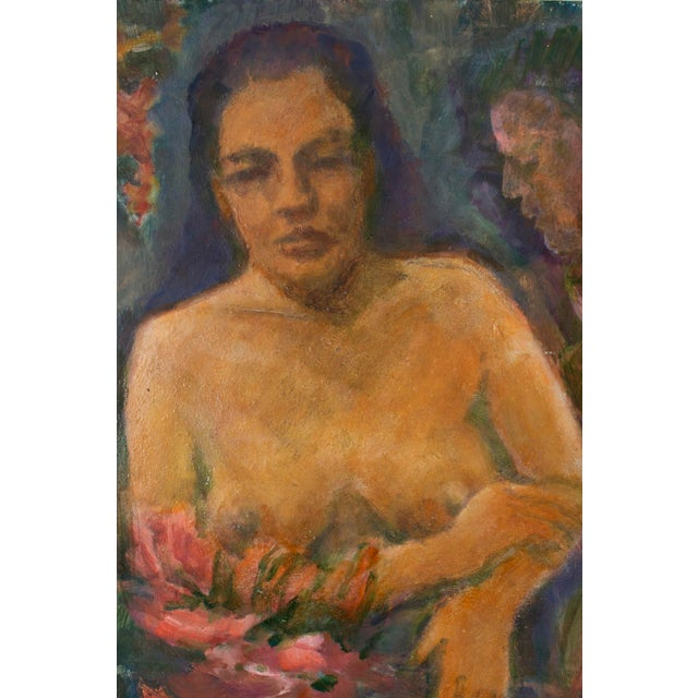 Original Nude of a Woman Portrait Painting - Image 4 of 4