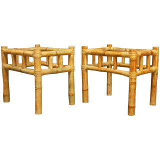 Ralph Lauren Bamboo Side Tables - A Pair For Sale