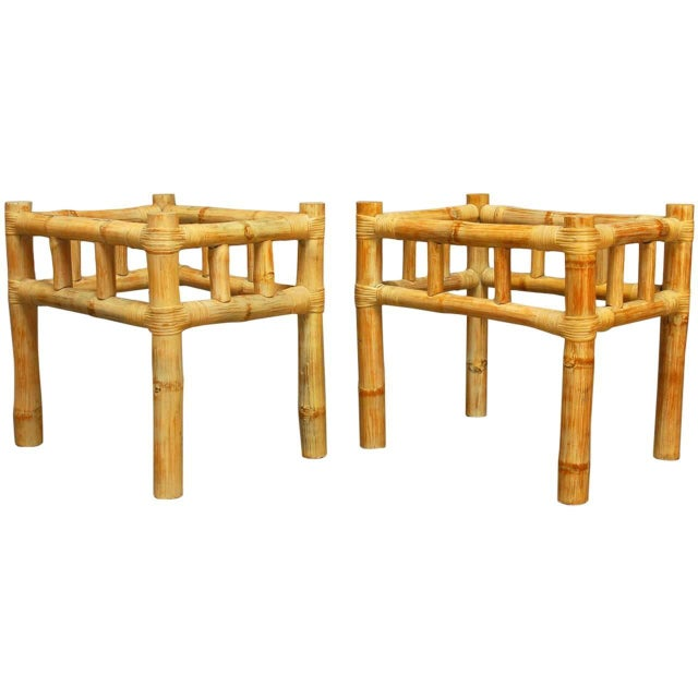 Ralph Lauren Bamboo Side Tables - A Pair - Image 1 of 4