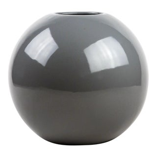 1980s Contemporary Haeger Grey Round Vase For Sale