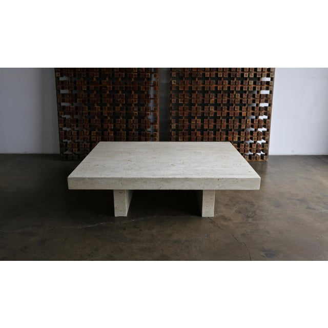 Stone Travertine Coffee Table, Circa 1980 For Sale - Image 7 of 13