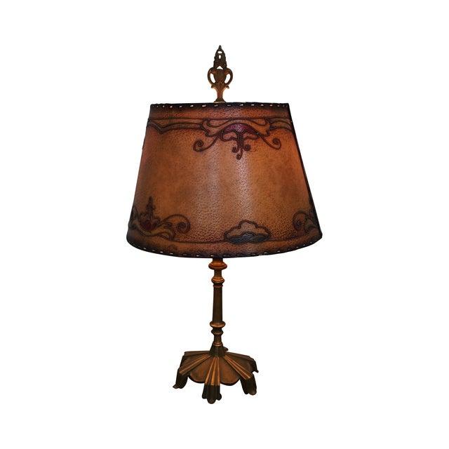 Remington Antique Brass Table Lamp For Sale